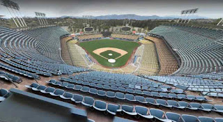 Dodger Stadium is a baseball park in Los Angeles