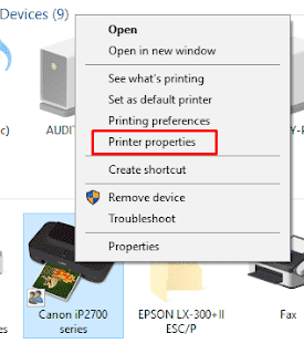 Setting Printer Sharing