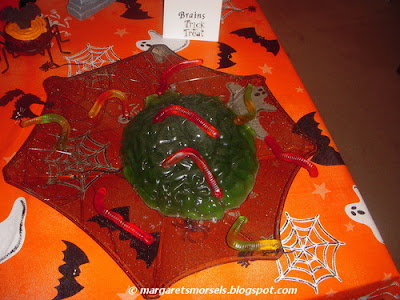 Margaret's Morsels | Halloween Gelatin Brain Mold