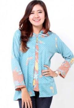Baju batik atasan remaja putri muslim
