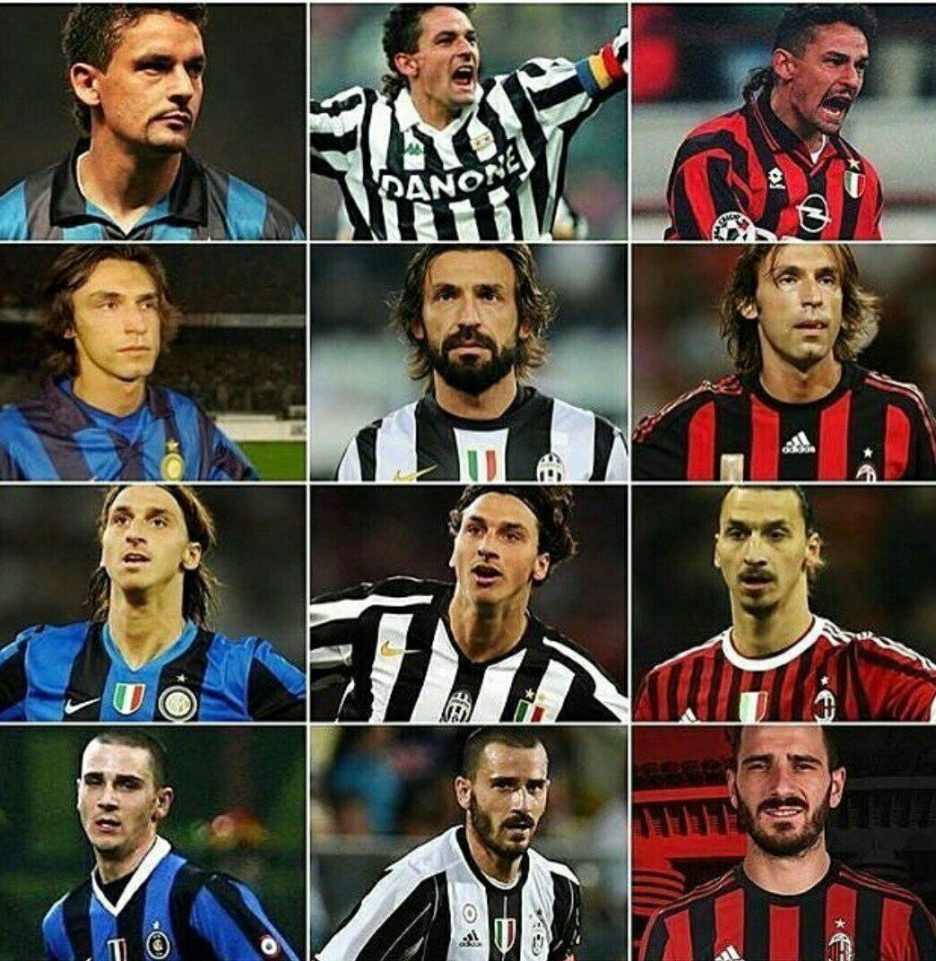 Baggio, Pirlo, Zlatan, Bonucci