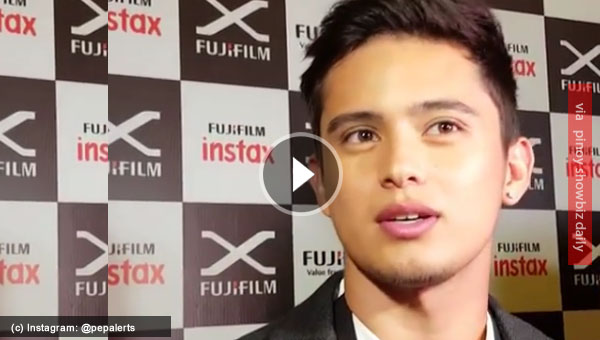 James Reid supports government's war on drugs but takes Robin Padilla's stand on issue about naming celebrities