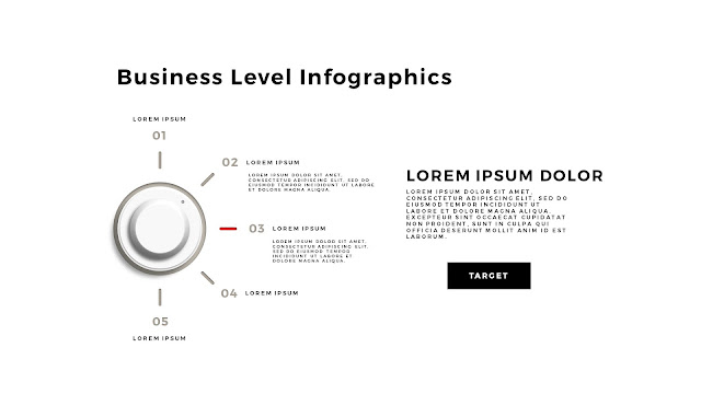 Business Level Infographics Free PowerPoint Template Slide 7