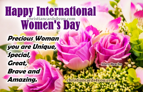 Short Christian Poem about an amazing woman, happy international women's day, Christian women quotes, Mery Bracho quotes and image about woman. Nice mother, girl, woman, friend, daughter images.