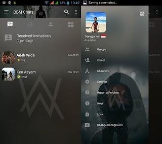 BBM MOD Transparan Tema Alan Walker v3.2.0.6 APK Terbaru
