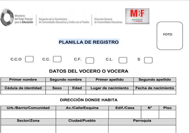 Orientación N° 14 del Año Escolar 2018-2019, elecciones de las Vocerías de Movimiento Bolivariano de Familia