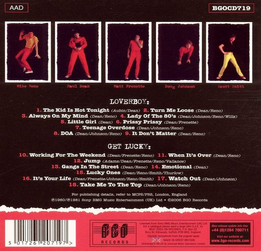 LOVERBOY - Loverboy [BGO Digitally Remastered] back