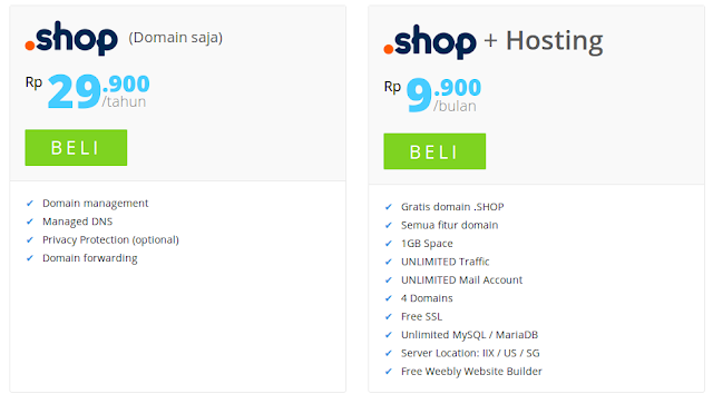 Promo september Domain Shop Murah rumahweb