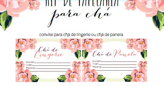 2d193bd13d4e7d Operação Casamento: Papelaria Kit de Chá de Panela e Lingerie
