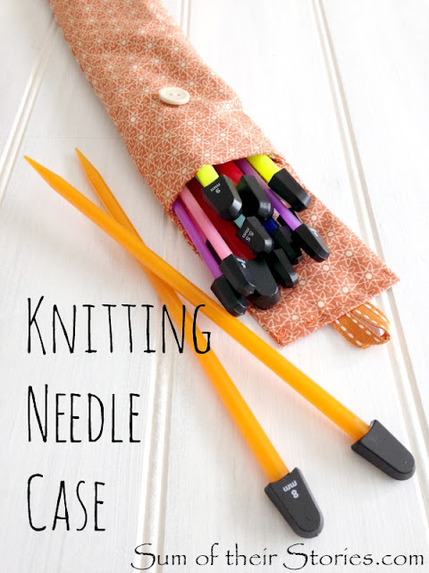 Sew a knitting needle case