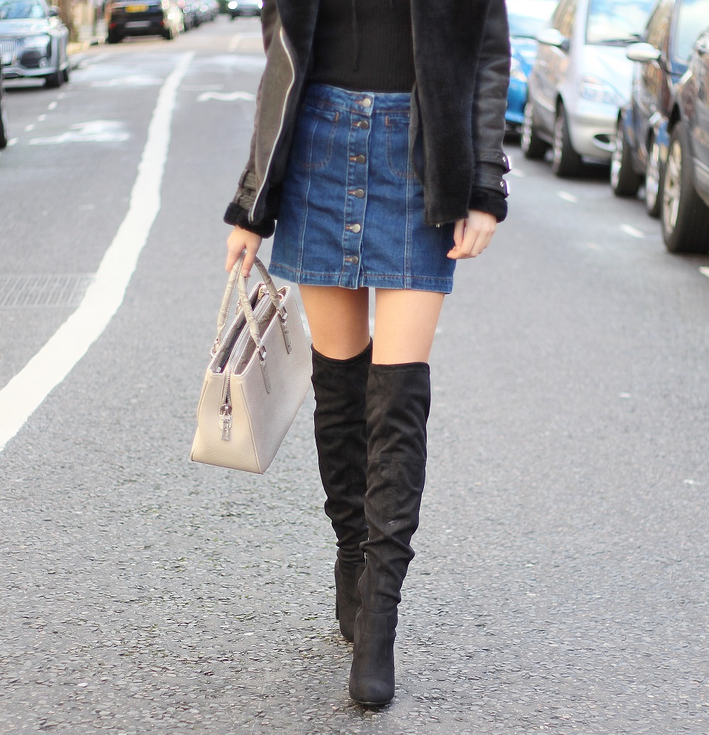 peexo fashion blogger styling black over the knee boots