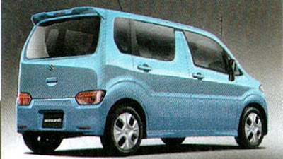New 2017 Maruti Suzuki Wagon R Blue Rear look