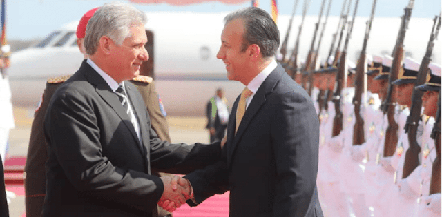 Dictador de Cuba llega a Venezuela para reiterar su apoyo a Nicolás Maduro