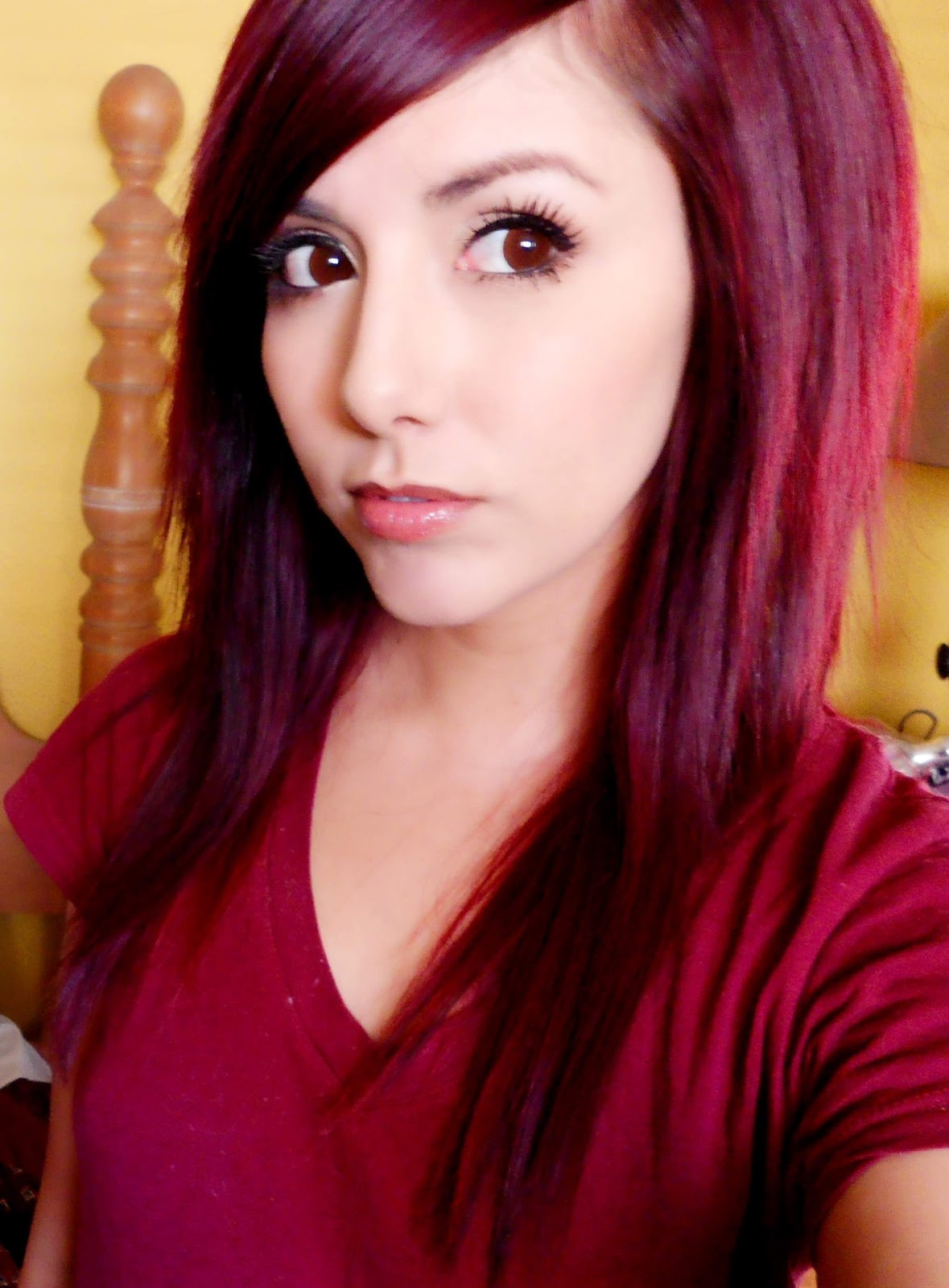 Haarfarbe Dunkelrot Lila Technicolor My Hair Color How To Get Dark Red Hair