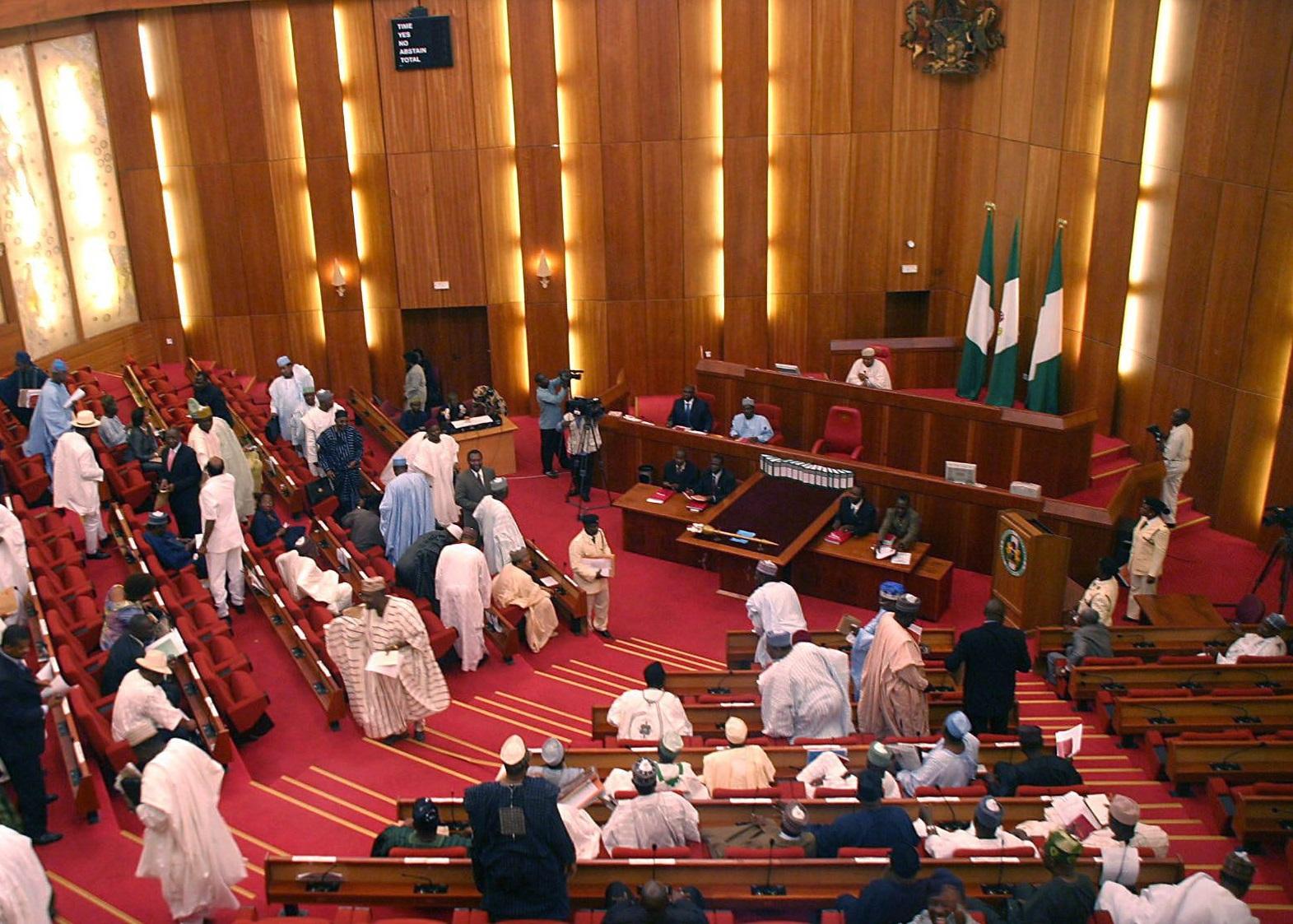 Senators Run For Their Life As Fire Guts National Assembly Abuja