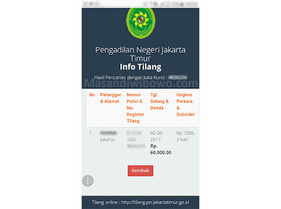 info tilang