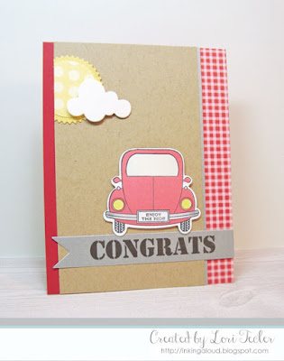 Congrats card-designed by Lori Tecler/Inking Aloud-stamps and dies from Papertrey Ink
