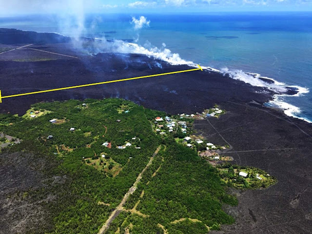 Hawaii's Main Coastline Expanded 1.5 Kilometres Due to Lava