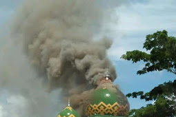 Mesjid Agung Belopa Kebakaran