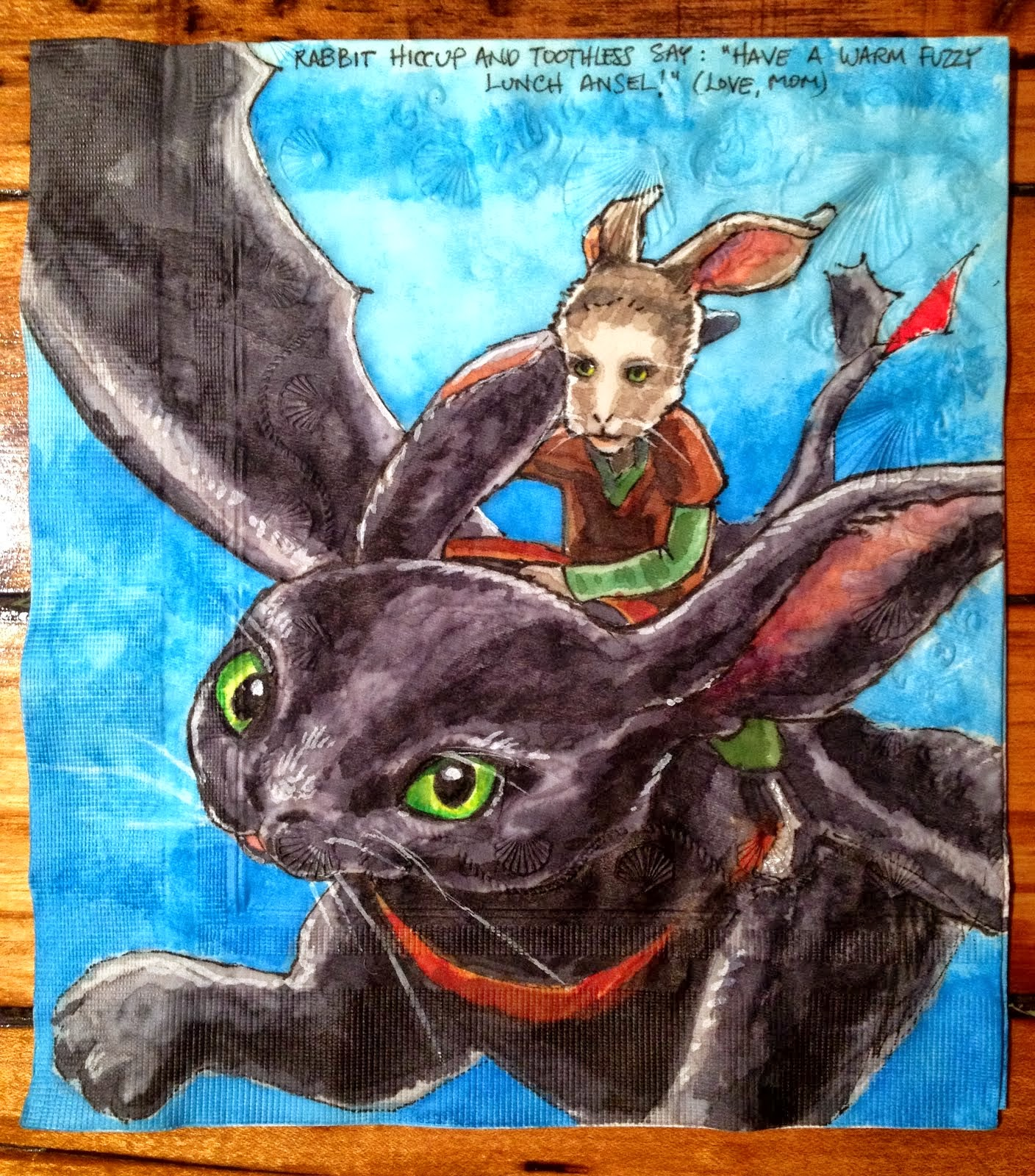 Daily Napkins: Rabbit Hiccup and Toothless - photo#20
