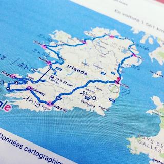 Préparation d'un roadtrip en Irlande