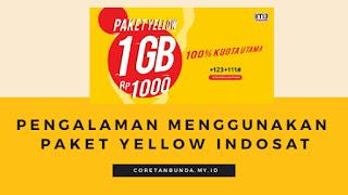 Berbagi Pengalaman Menggunakan Paket Yellow  Indosat