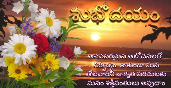 Good Morning Telugu Wishes In 2018 Wallpapers Images Wishes Designs