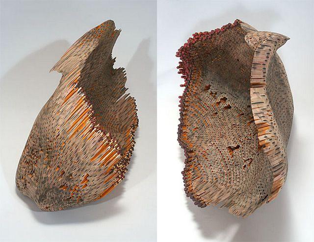 Esculturas con lapices.