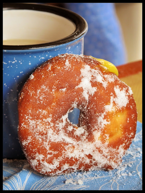 passion fruit curd doughnuts