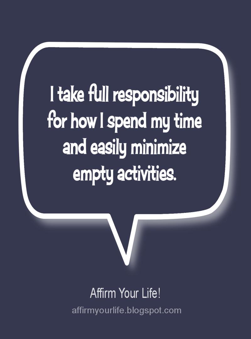TIME MANAGEMENT affirmation
