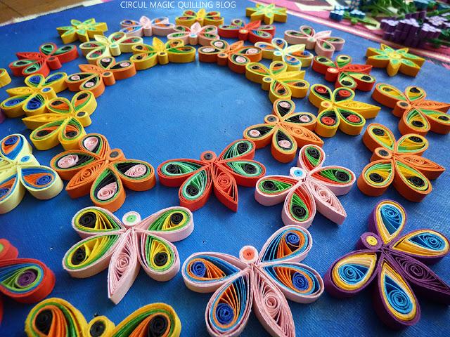 Circul Magic Quilling: Mandala Roiuri de Fluturi Hartie
