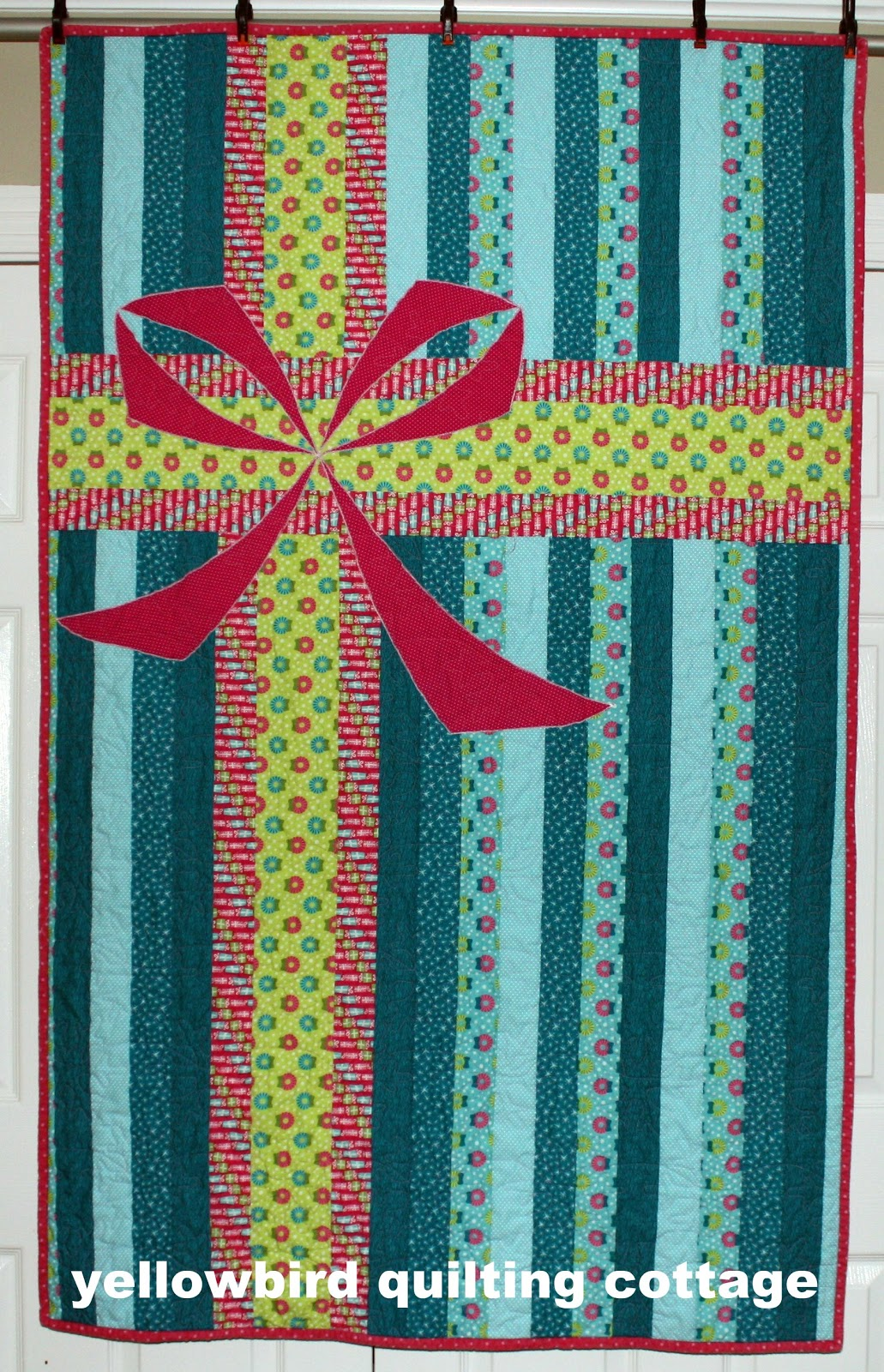 Yellow Bird Quilting Cottage Christmas Package Quilt