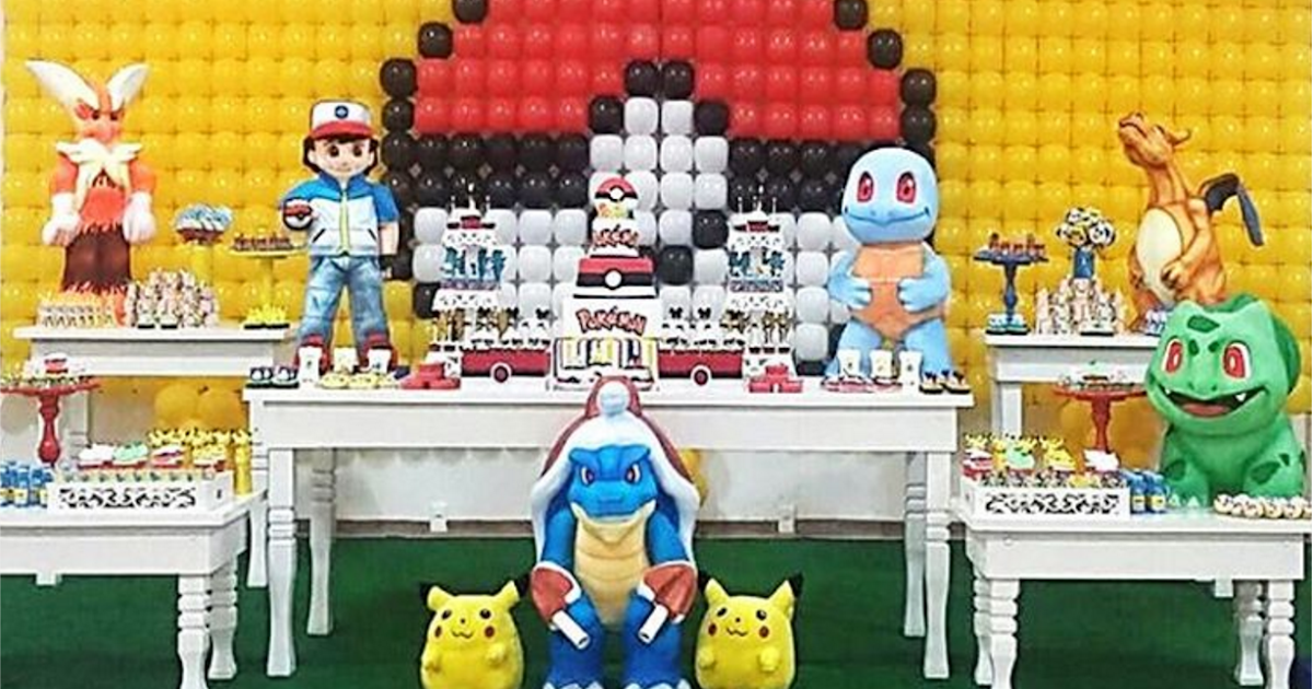 d 39 bombon decoracion fiesta pokemon