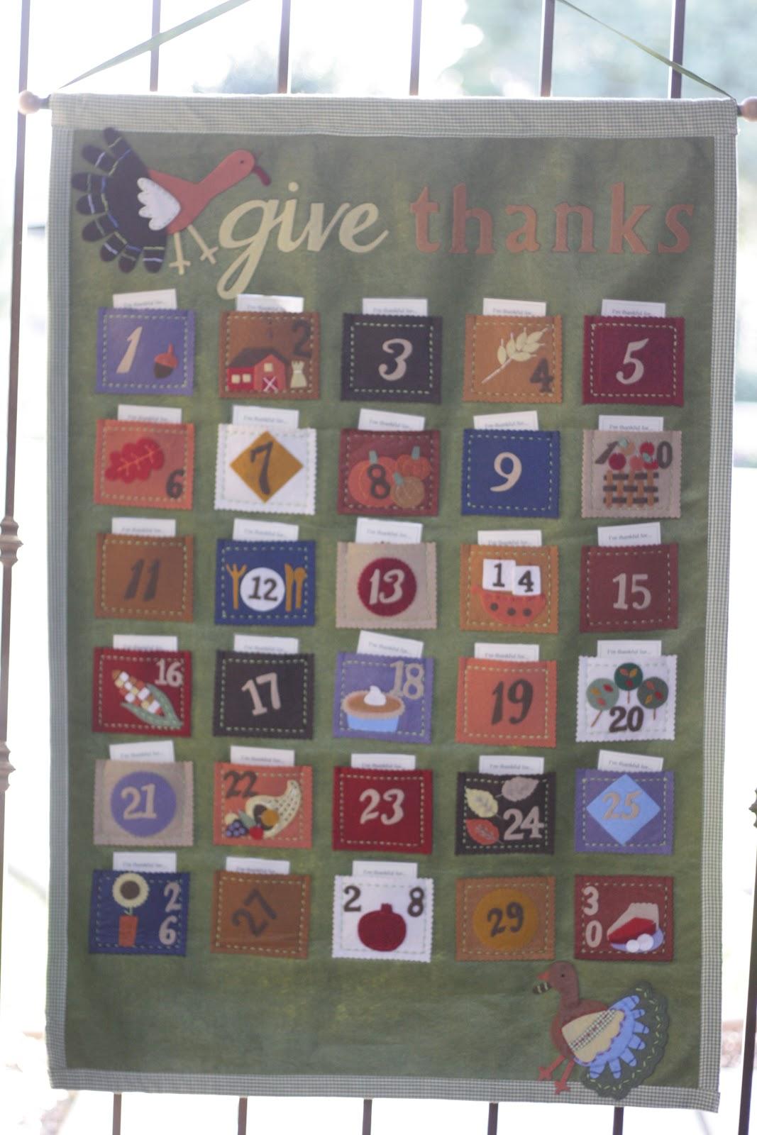 Thanksgiving Countdown Calendar The Red Balloon
