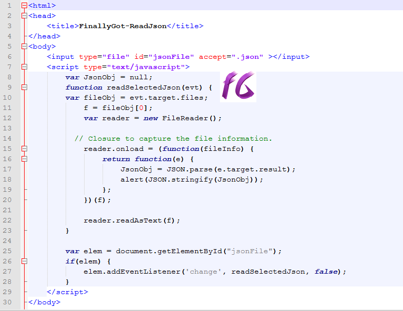 Finally Got: How to Read JSON File using Javascript