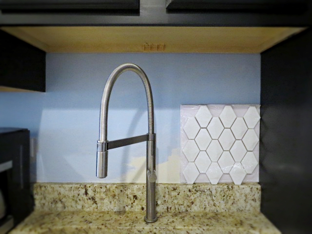 testing backsplash tile
