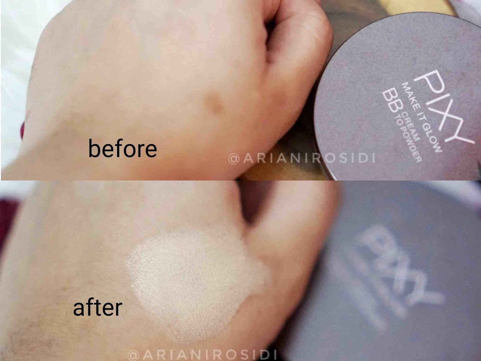 PIXY MAKE IT GLOW BB CREAM TO POWDER