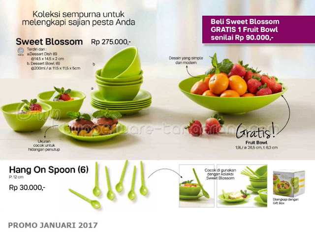 Sweet Blossom dan Hang On Spoon Promo Tupperware Januari 2017