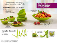 Sweet Blossom dan Hang On Spoon Promo Tupperware Januari 2017