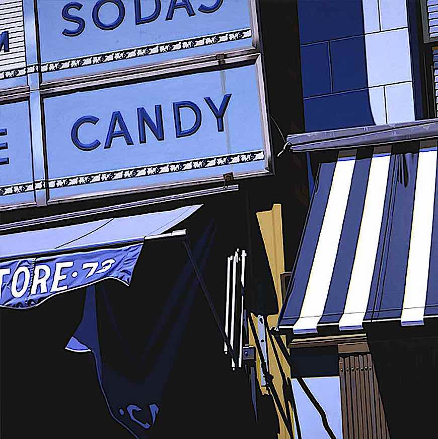 a Robert Cottingham painting