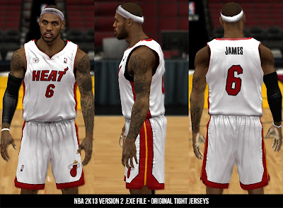 NBA 2K13 Tight Jerseys Mod V2