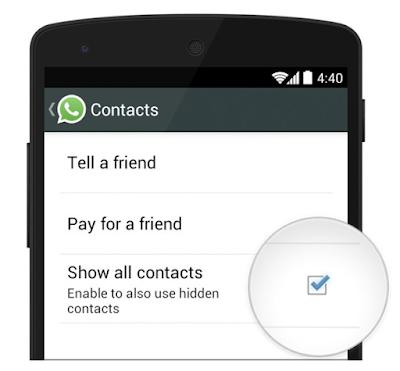 Di whatsapp tidak muncul nama kontak, Solusinya