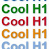 Cool h1 styles using css3
