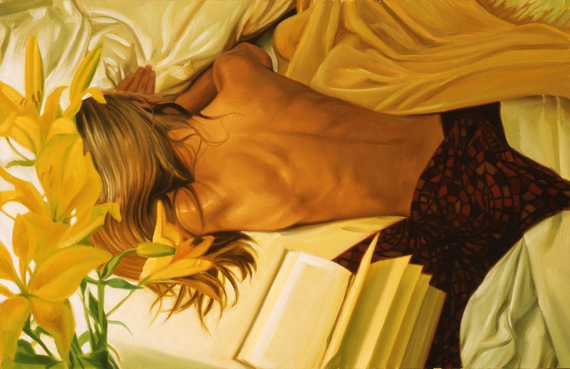 D.W.C. Beautiful and Mysterious Woman - Painter Carrie Graber