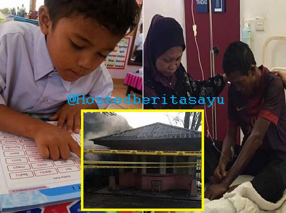 Adik Azrey RENTUNG Dalam Pondok Pengawal Tempat Ayahnya Kerja .. Terbakar Angkara Perbuatan Khianat (8 Gambar)