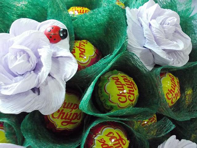 bukiet z lizaków Chupa Chups 60 bukiety