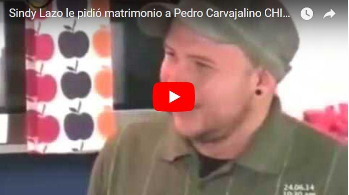 Sindy Lazo le pidió matrimonio a Pedro Carvajalino