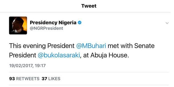 Saraki Meets President Buhari In London