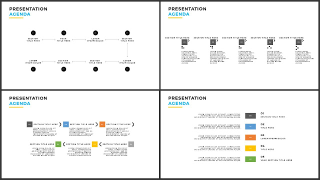Table of Contents for Free PowerPoint Template using Minimalism Design