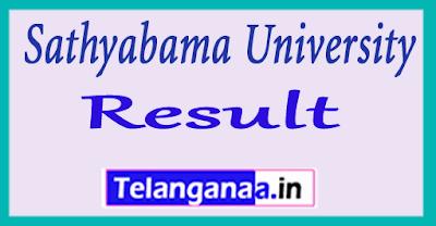 Sathyabama University  UG PG Exam Results